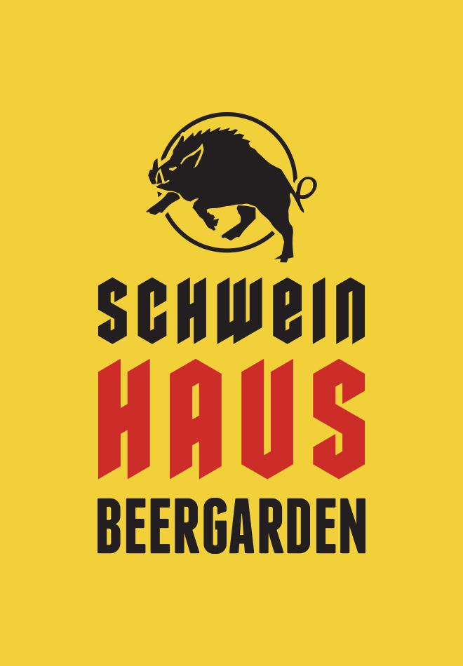 Schweinhaus Beergarden logo with boar.